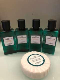 Hermes parfums eau d'orange verte 旅行套裝