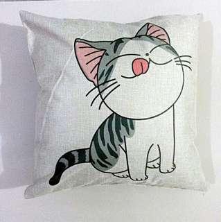 Yummy cat kucing Cushion cover pillow case bantal sarung