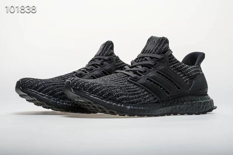 "55c536f9c59e0 36-45 Adidas Ultra Boost 4.0 ""Triple Black"" Basf Boost BB6171"