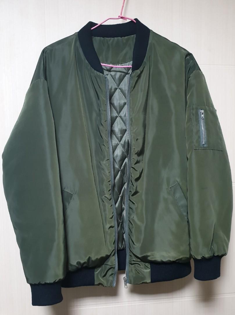 軍綠飛行外套 內鋪棉