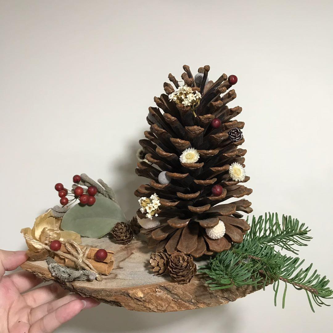 [花好玥圓]乾燥花名片座 諾貝松 毬果 乾燥花束 名片座 聖誕節禮物 交換禮物 🎁 桌面擺設 桌面擺飾 浮游花
