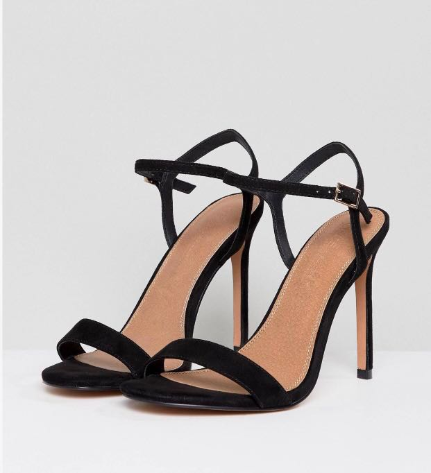 25960f478c6 🌻 BNIB ASOS DESIGN Hands Down Extra Wide Barely There Heeled ...