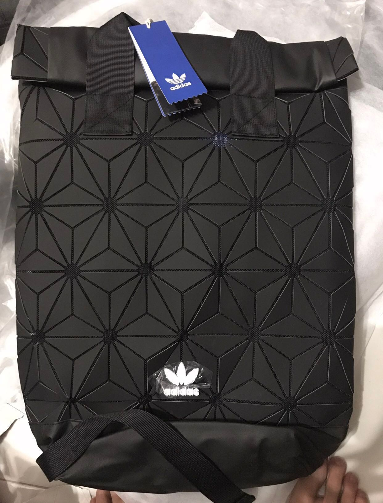 quality design b1d0e 5e8b7 Adidas 3D Roll Top Bag, Luxury, Bags   Wallets, Backpacks on Carousell