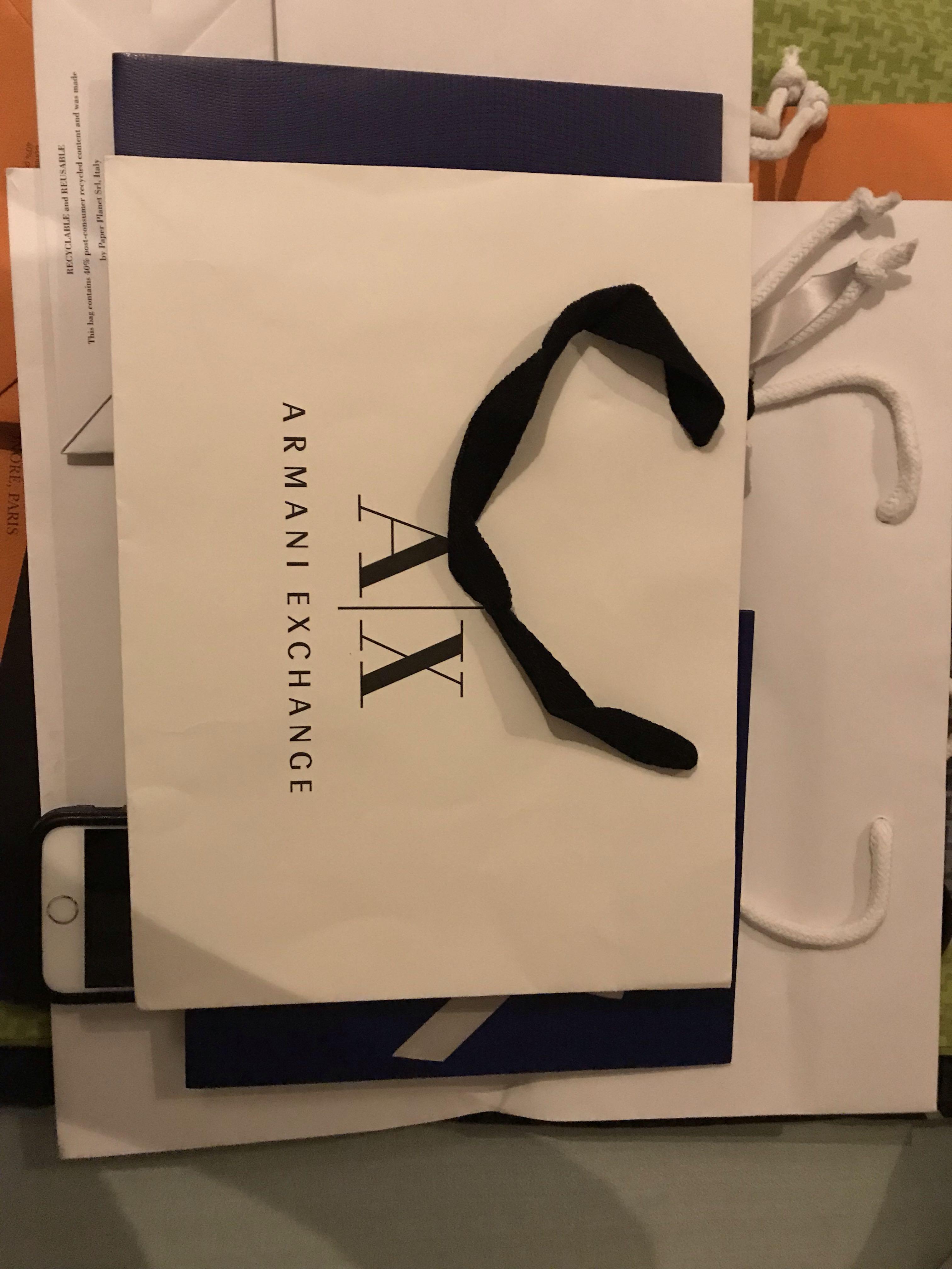 Armani exchange paper bag 56f082a04c7f4