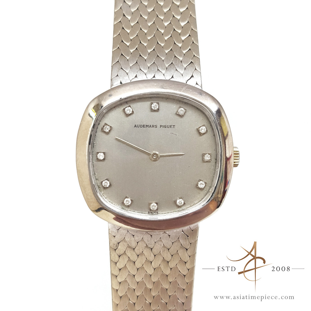 30ce1a5a8eac Audemars Piguet 18k White Gold Original Diamond Dial Watch