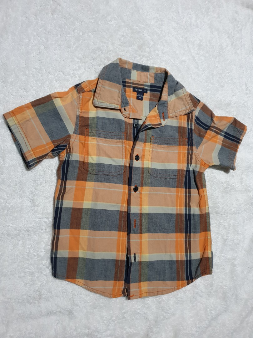 5266557f7 Authentic Baby Gap Checkered Polo for Kids, Babies & Kids, Boys ...