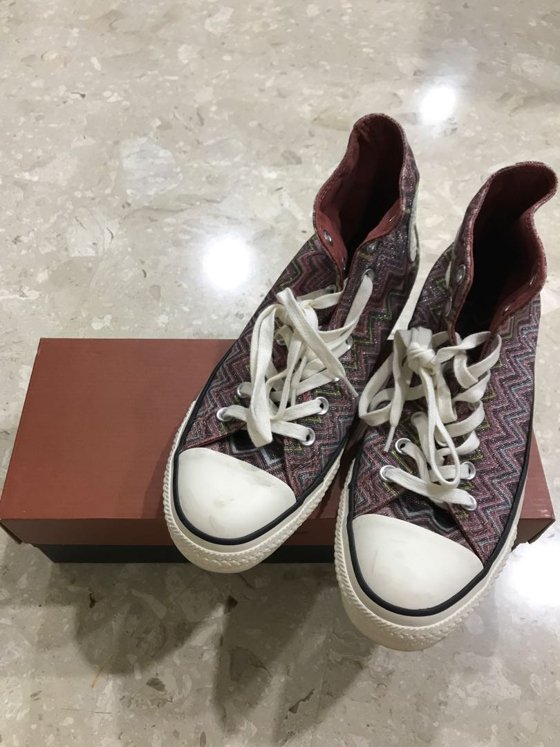 9560745807a0 Authentic Converse x Missoni Signature Hi Top Sneakers