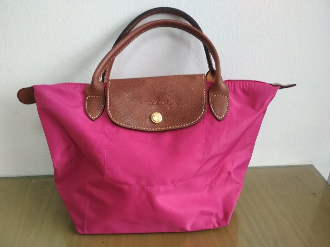 Authentic Longchamp Le Pliage type  S  - Modeled Depose short handle ... ff551bb96c57e