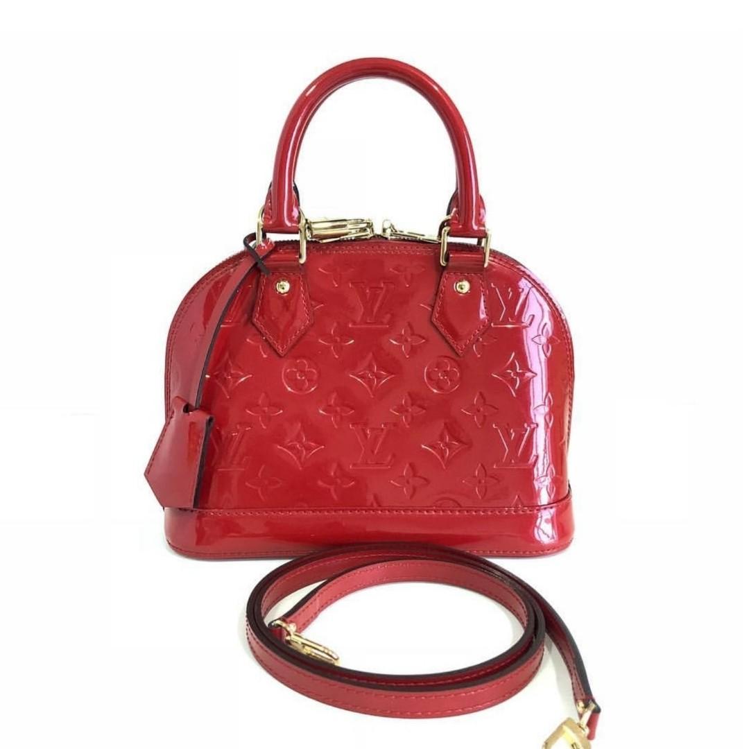 ec6841d2fa03 Authentic Louis Vuitton Alma BB Vernis