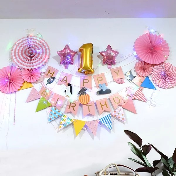 Happy Birthday Party Decoration 1 Year Old Design Craft Others On Carousell