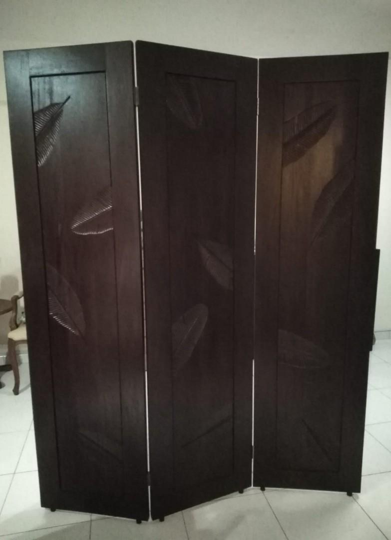 Balinese Resort Solid Mahogany Wood 3 Panel Room Divider Furniture Home Decor Others On Carousell