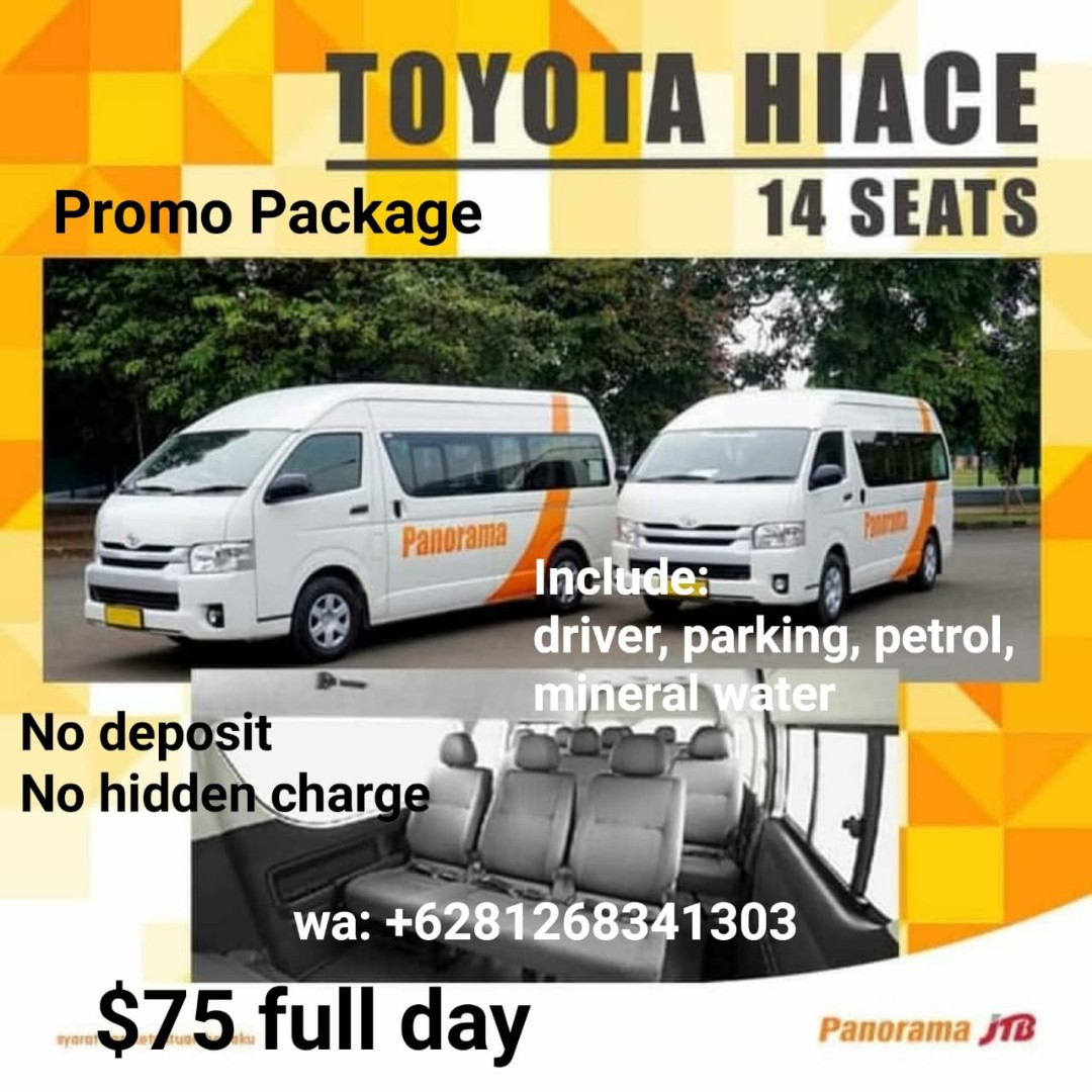 61e443cb28 Batam transport promo hiace and coaster