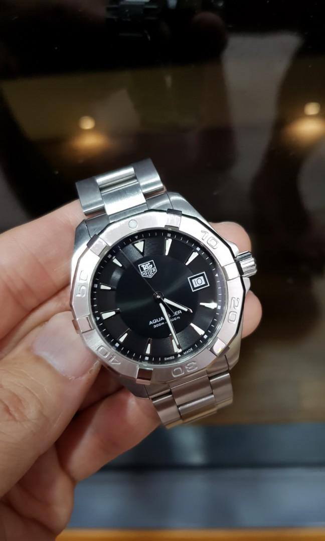 Best Price Like New Tag Heuer Aquaracer Black Dial 41mm