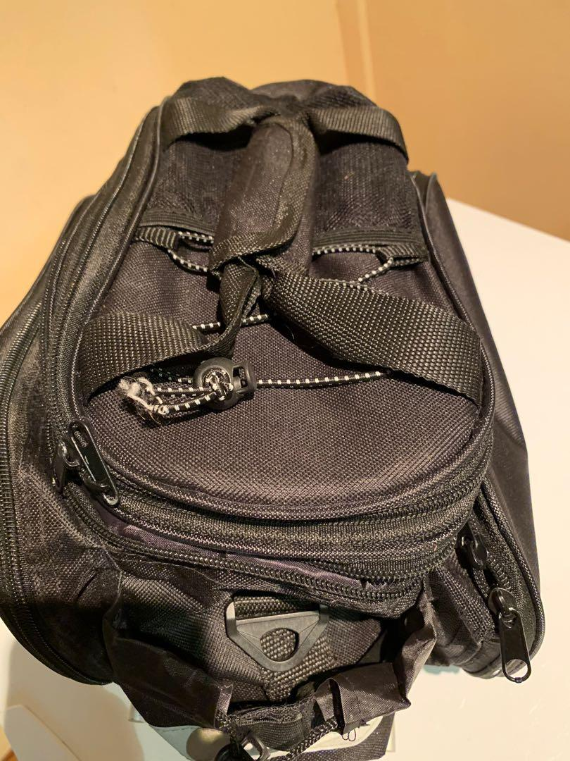 Bicycle touring rear pack with universal mounting