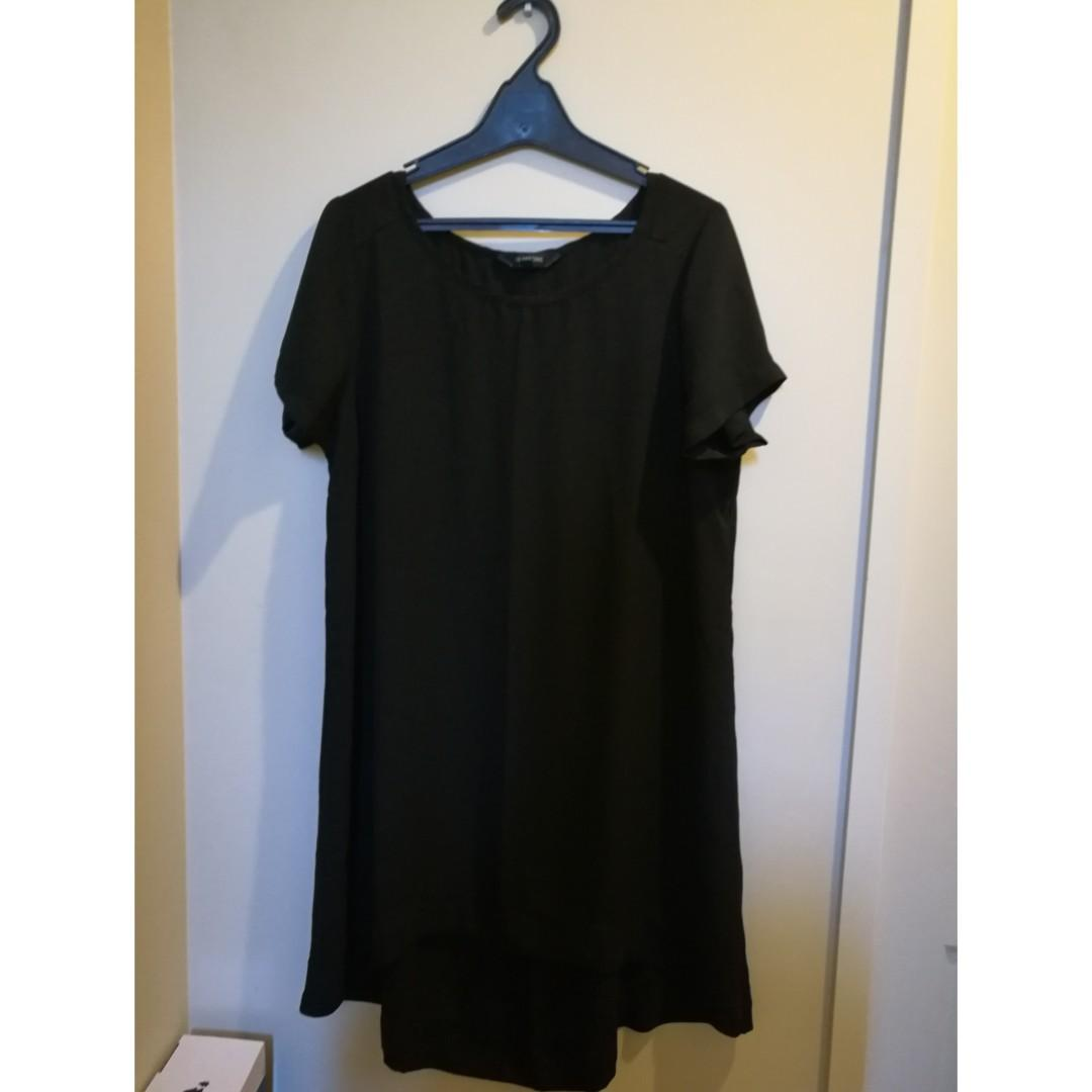BLACK GLASSONS DRESS TOP SIZE 14