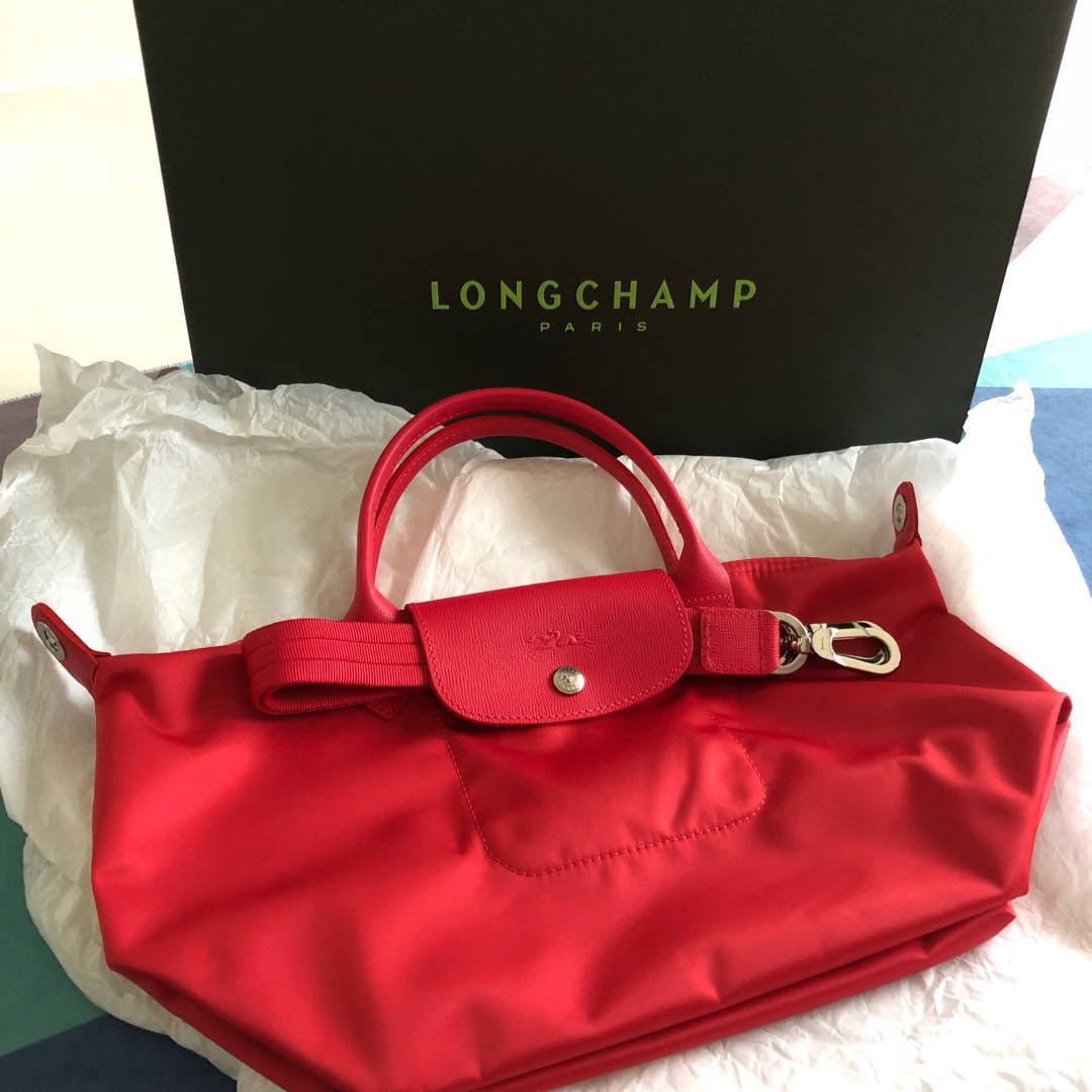 7482ebcd4b32 BN Longchamp Le Pliage Neo Red Bag
