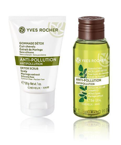 BN Yves Rocher Anti-Pollution Micellar Shampoo and Detox Scrub ... c1fabdb2bb13d
