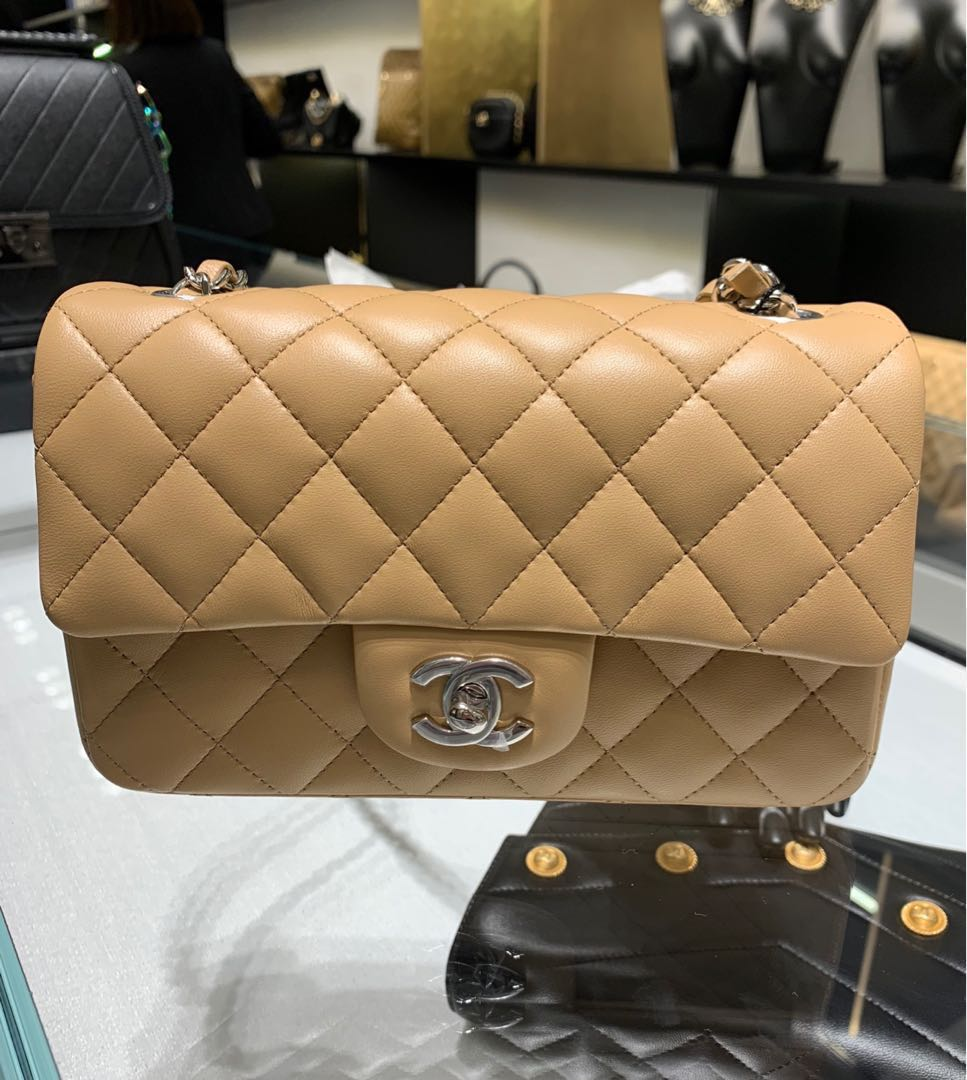 de00b170edab Brand New Full Set* Chanel Mini Rectangle Rectangular Flap Bag in ...