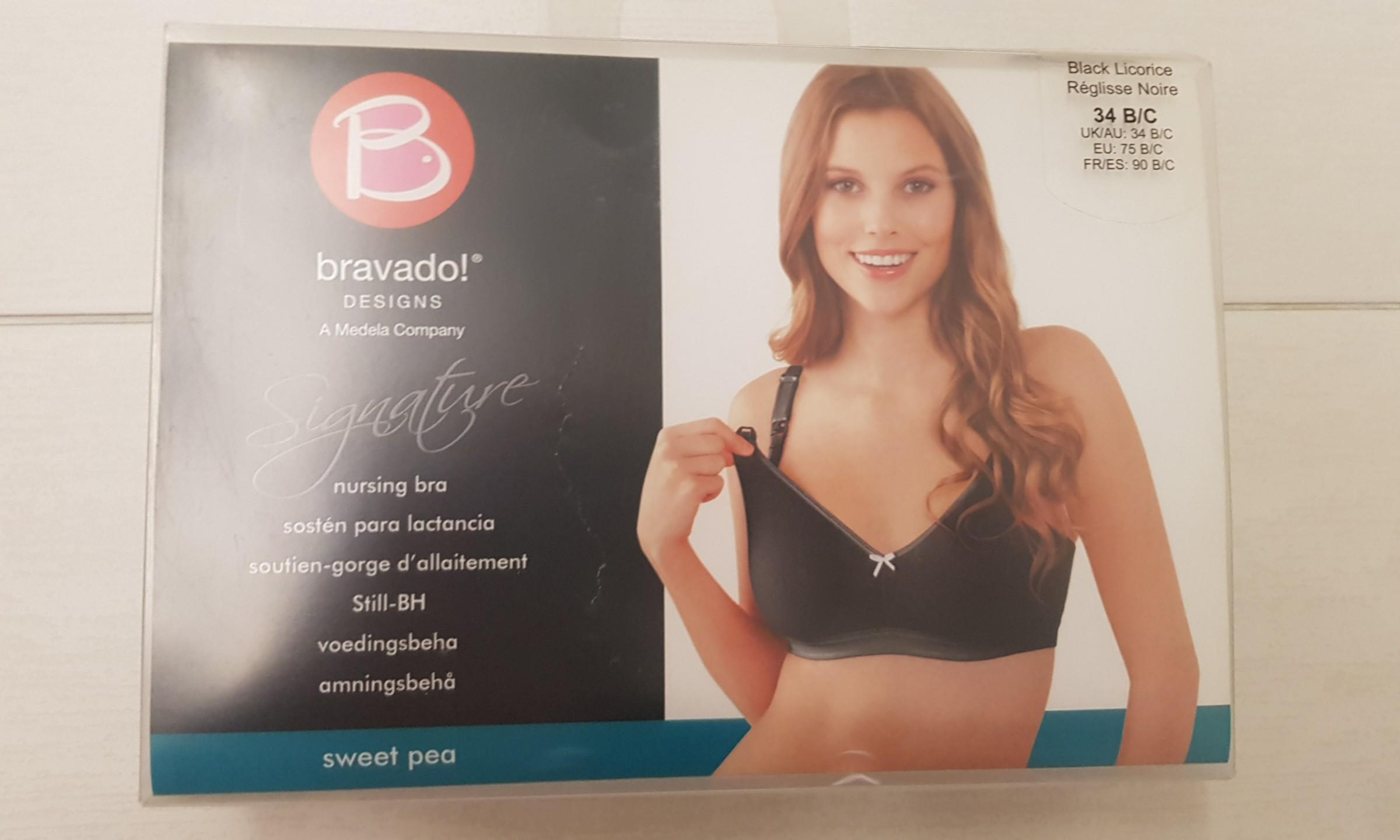 Bravado sweet pea nursing bra - black