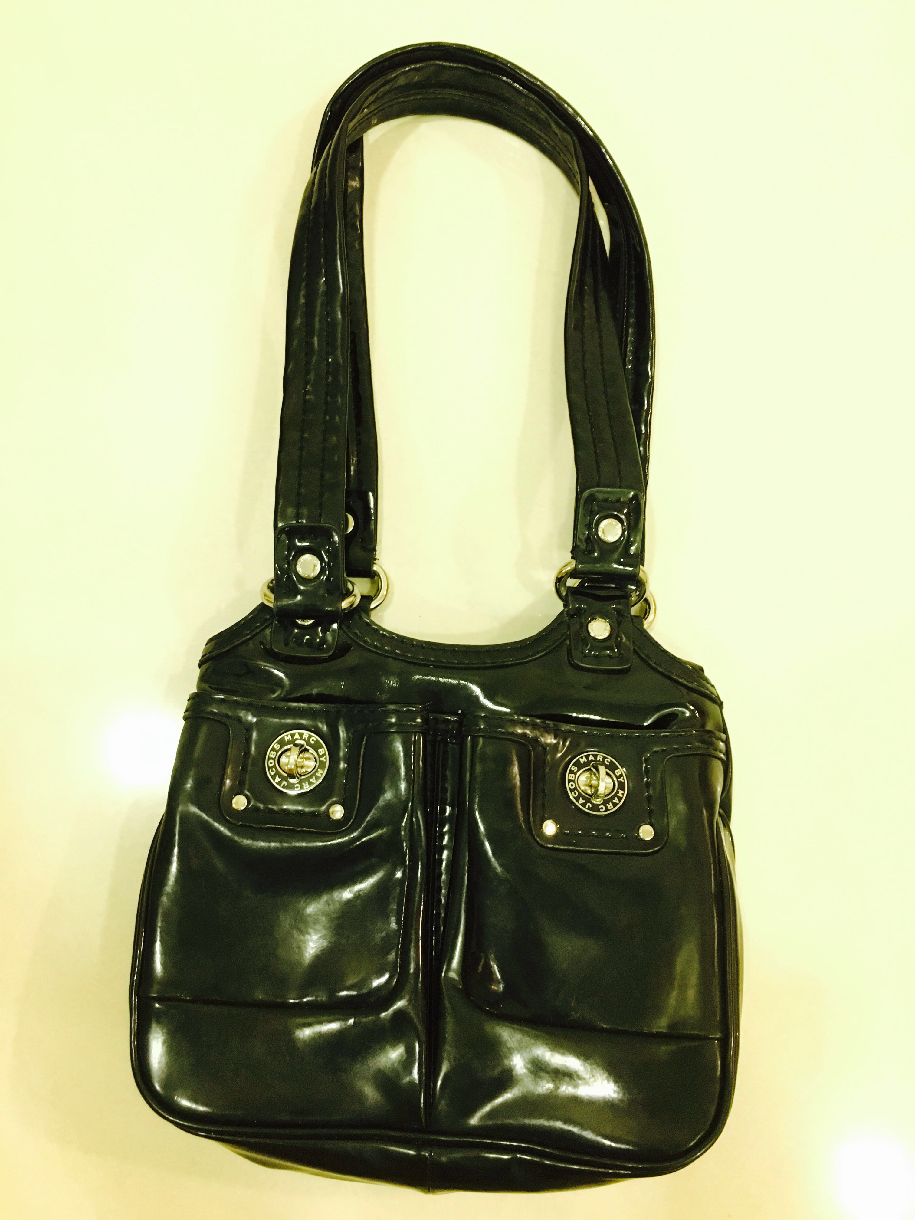 2e373a9f28 Authentic Marc by Marc Jacobs PVC black leather bag [TO CLEAR], Women's  Fashion, Bags & Wallets, Others on Carousell