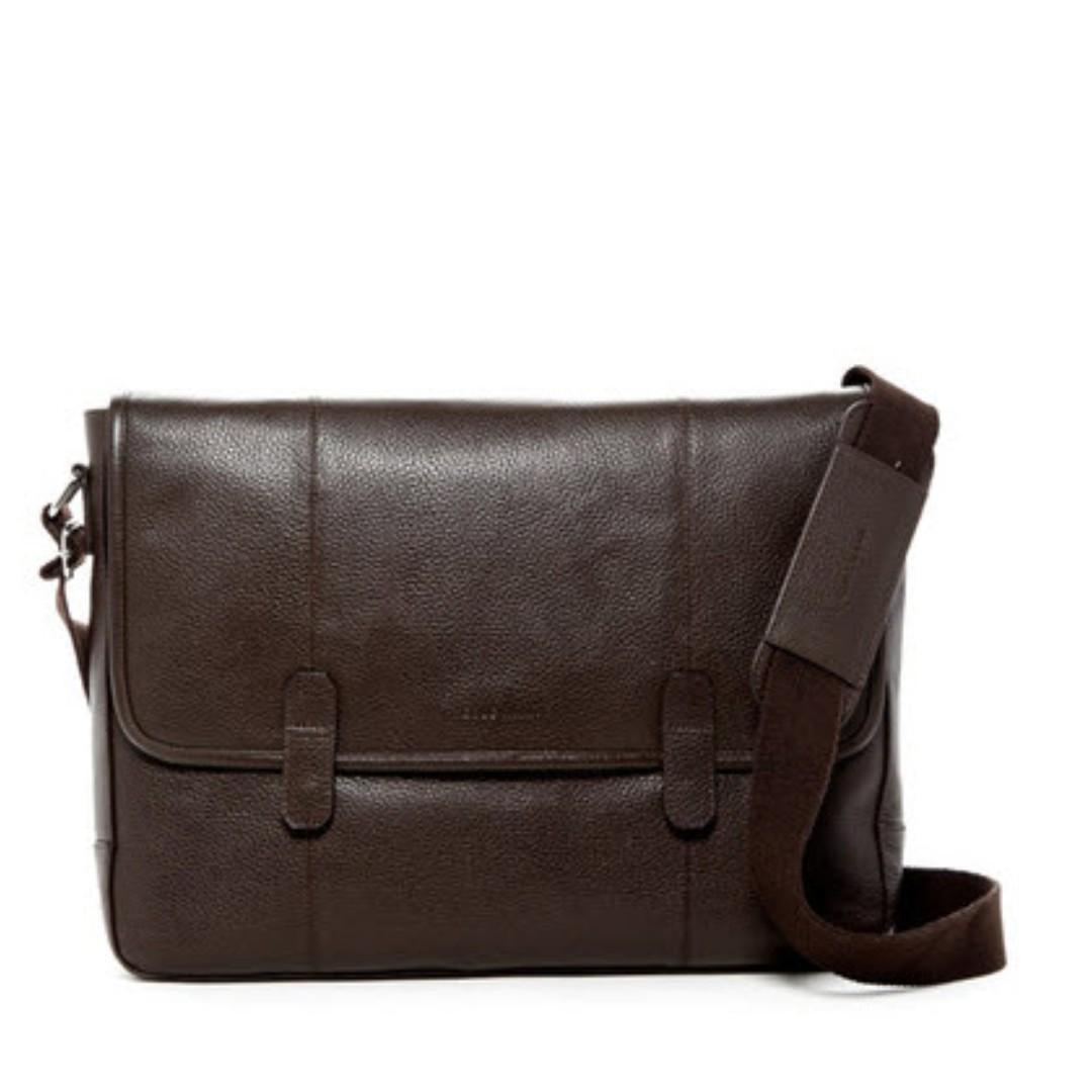 f5fc85296eaa Cole Haan Pebble Leather Messenger Bag – Chocolate