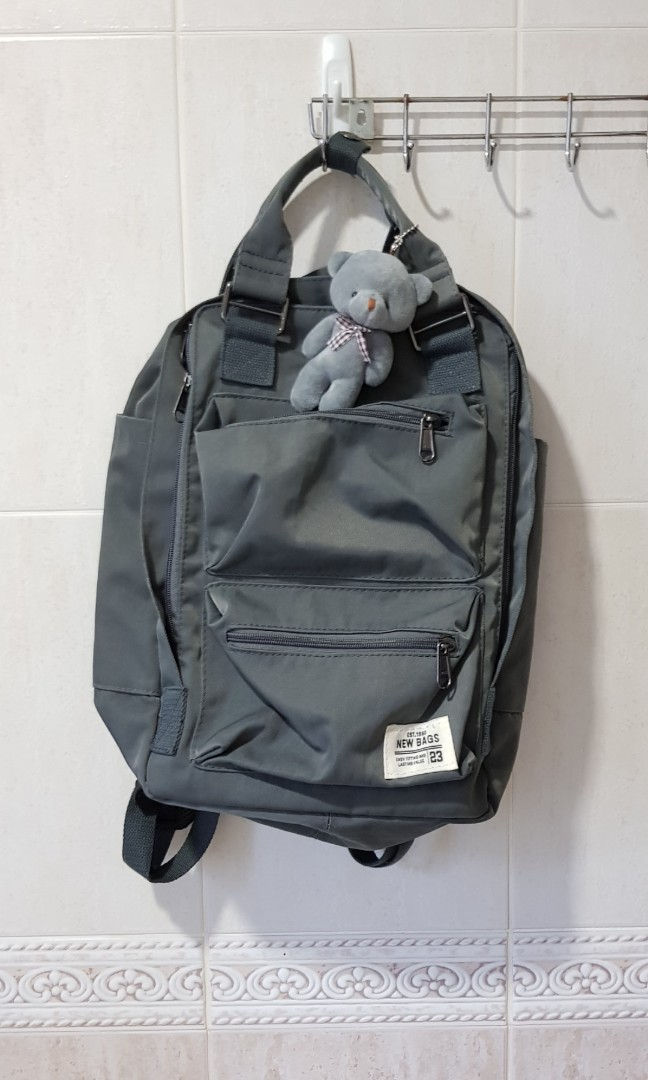 Grey school backpack e47a295fefa4f