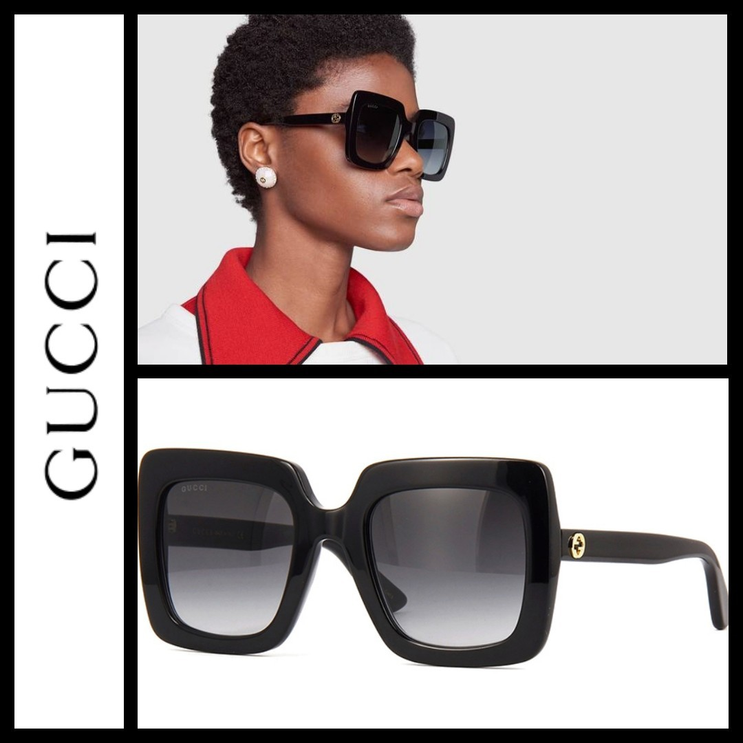 db4579db9fd Gucci GG0328s Square oversize acetate frame sunglasses
