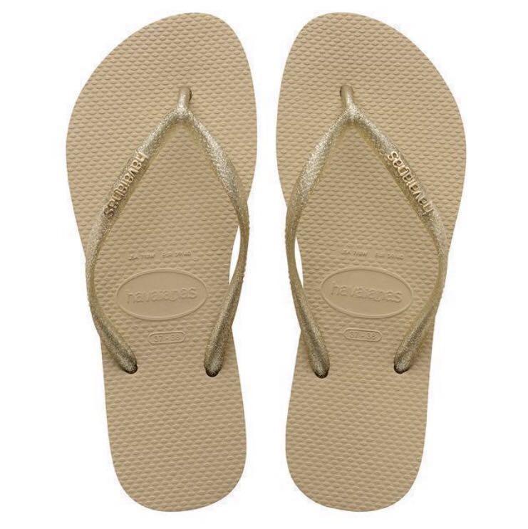 b66b9348ea26e HAVAIANAS Slim Logo Metallic Slippers Sale! - Buy any 2 pairs GET ...