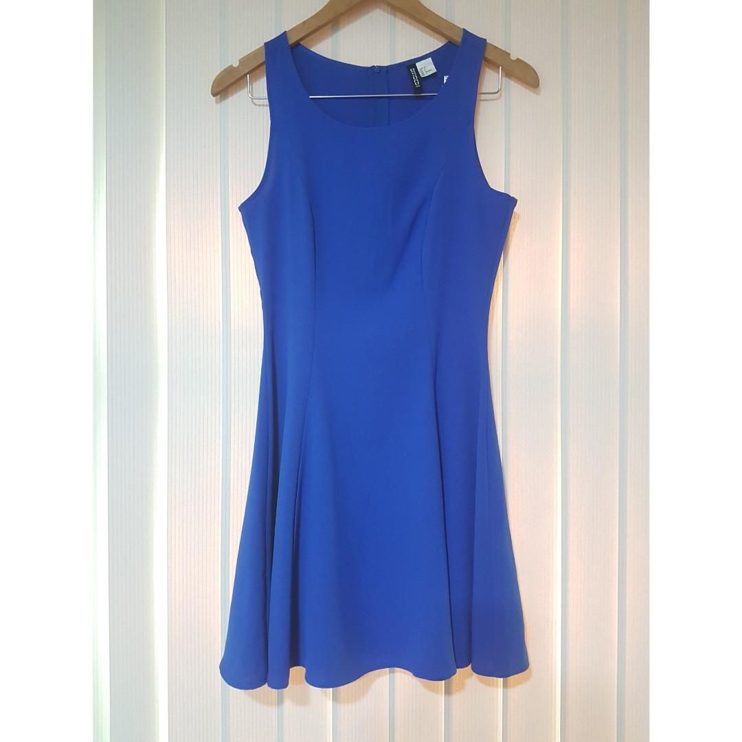 d9249b1ff761 H&M blue dress, Women's Fashion, Clothes, Dresses & Skirts on Carousell