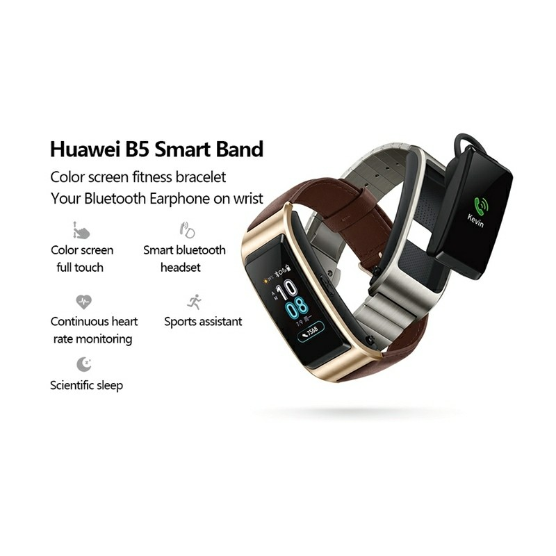 Huawei TalkBand B5 Bluetooth 4 2 Headset Fitness Tracking Sports Smart  Bracelet for Android / iOS, 1 13 inch Touch AMOLED 2 5D Screen, Support  Fitness
