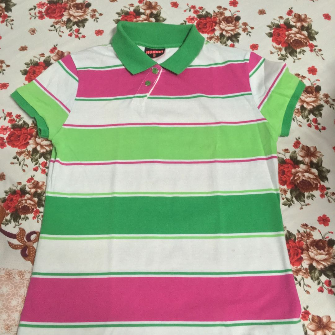 HUMAN Women Striped Polo Shirt 135853a568