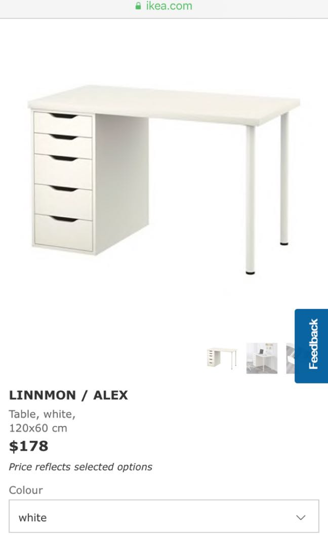 Ikea Linnmon Alex Table And Drawers Furniture Tables Chairs On