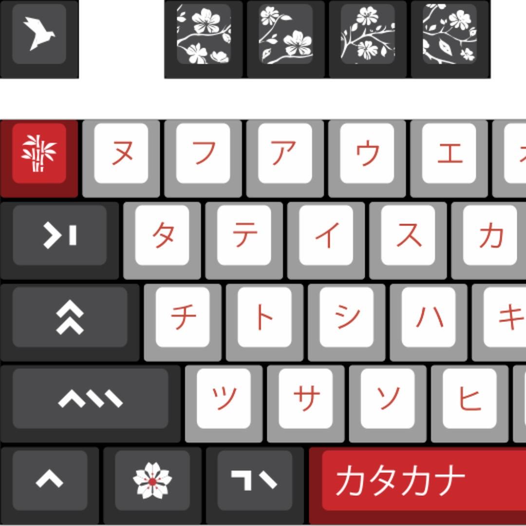 c461d4653b4 Katakana by Marius 104-Key Keycap Set for Mechanical Keyboards ...