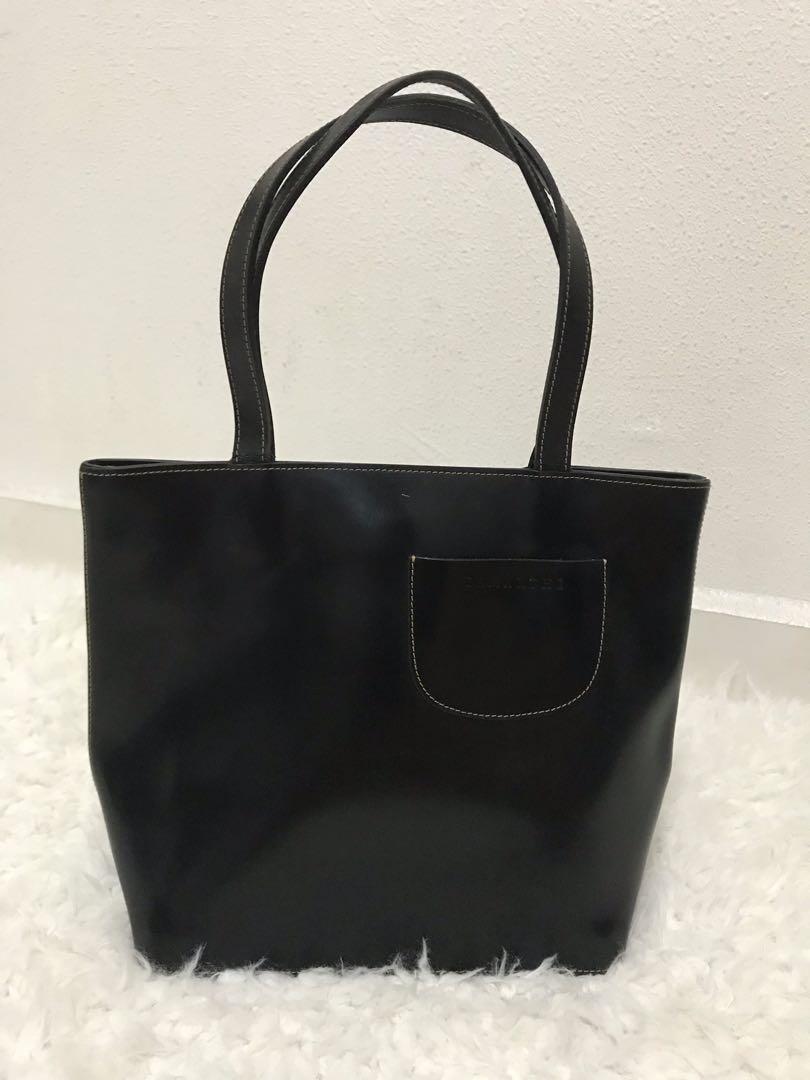 dcad6754437e Lamarthe black tote, Women's Fashion, Bags & Wallets, Handbags on ...