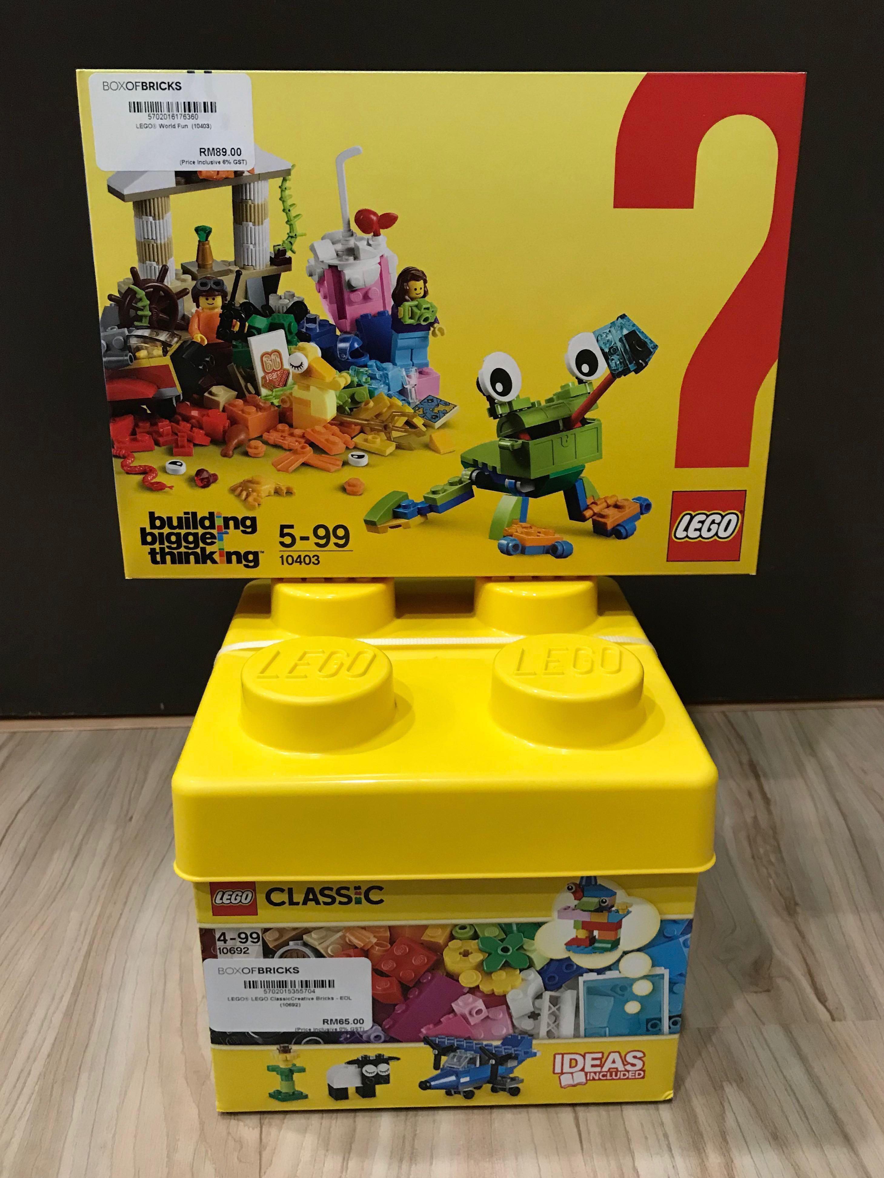 LEGO Classic Combo 10692 Creative Bricks & 10403 World Fun