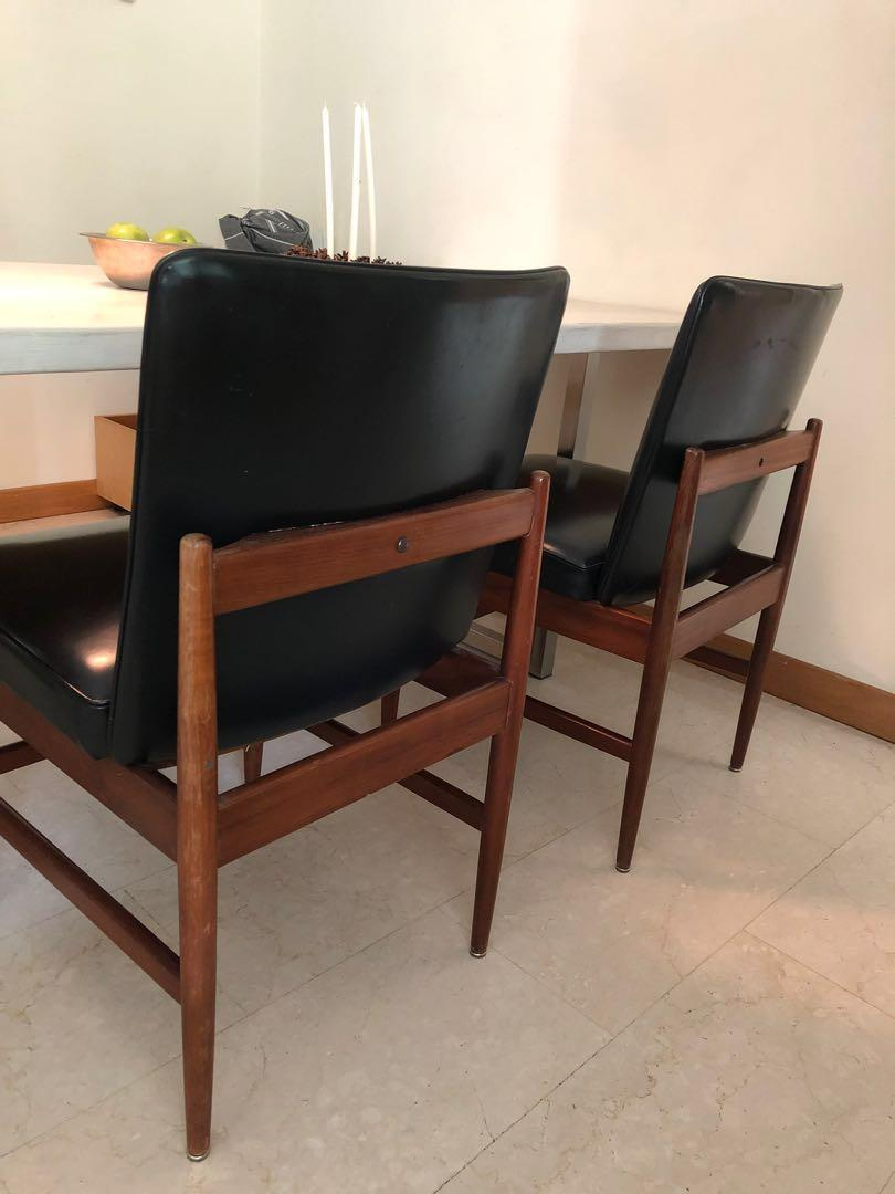 Image of: Mid Century Retro Vintage Dining Chairs Pair Furniture Tables Chairs On Carousell