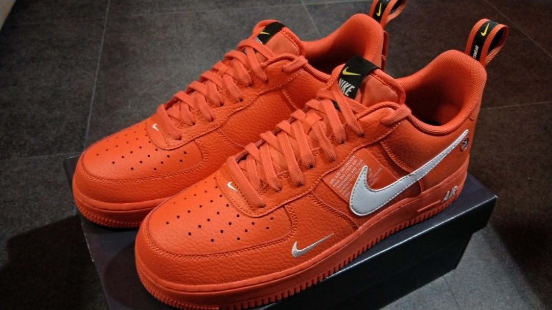 6a63ee84aee Nike Air Force 1  07 LV8 Utility Team Orange