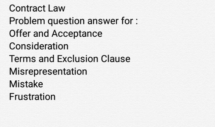 exclusion clause problem question answer