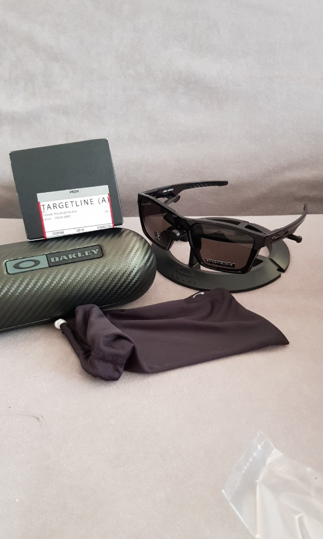 295e77b93f Oakley targetline Asian fit polished black frame prizm grey lens ...