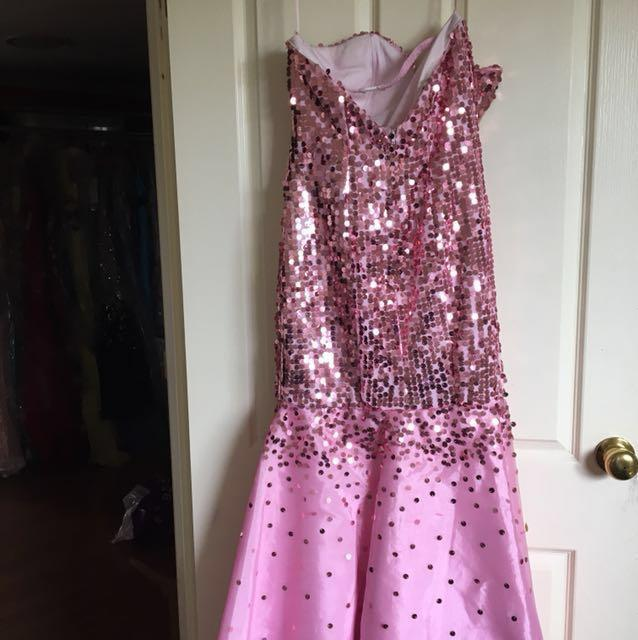 Pink sequenced dress