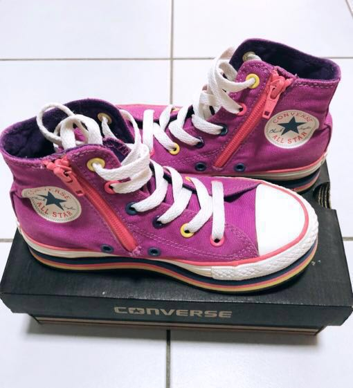 5b2ea037d35d Pre-loved Authentic Converse Purple High Cut Sneakers with Heel ...