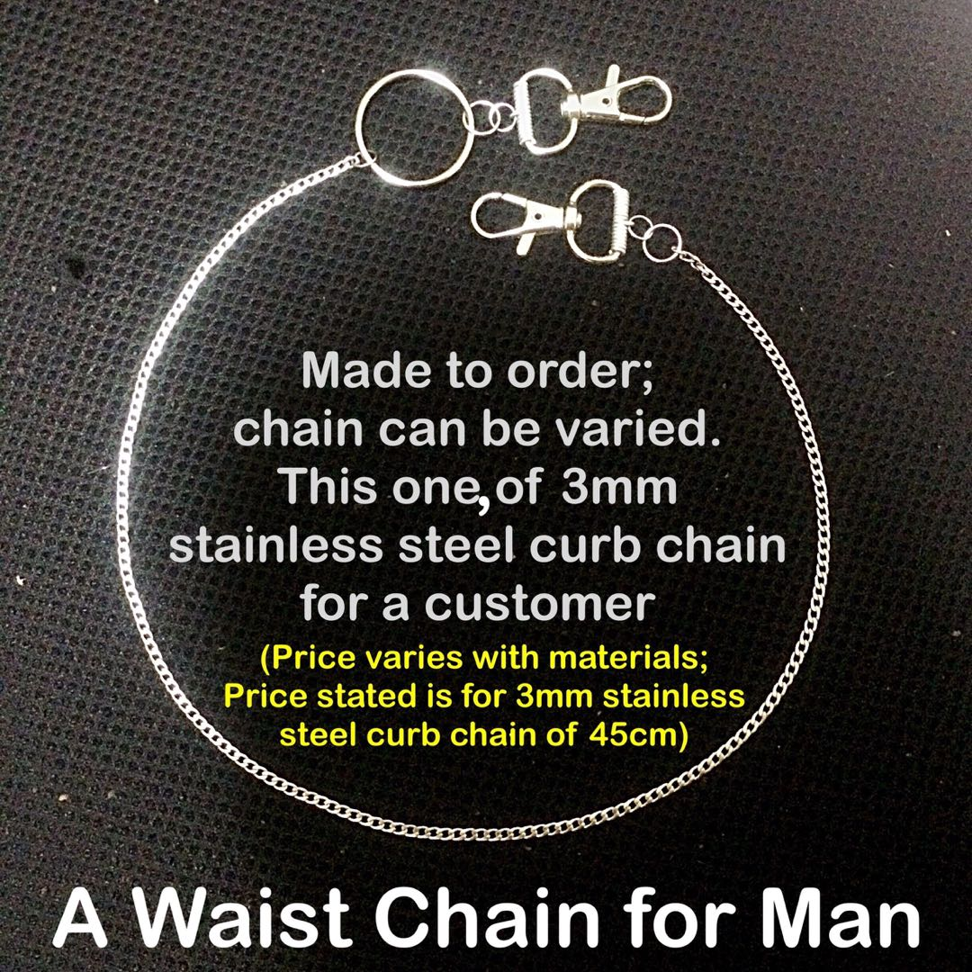 What Is Stainless Steel Made Of >> Stainless Steel Chain Waist Chain For Man Price Varies With
