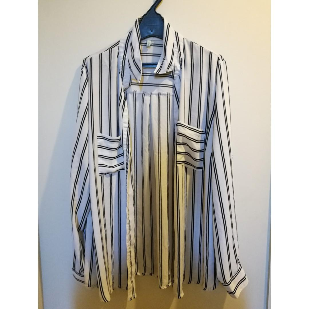 STRIPEY LONG SLEEVE TOP SIZE 20