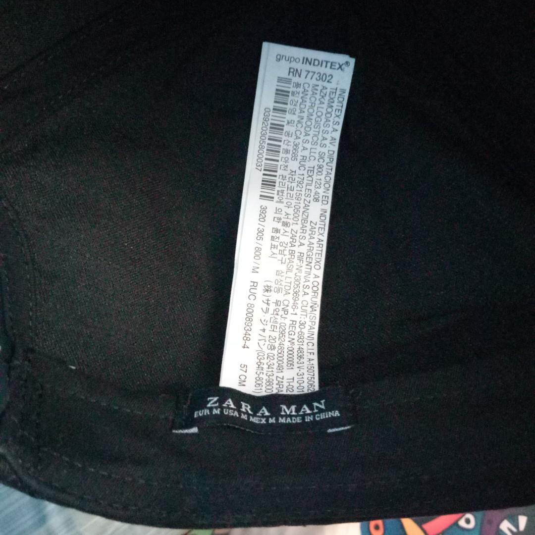b259ba48d3dd6 Topi Zara man black full