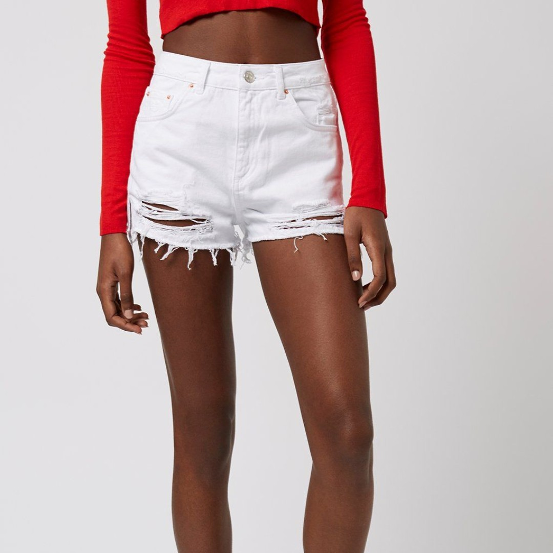5b6436beeb Topshop Ripped Shorts, Luxury, Apparel, Women's on Carousell
