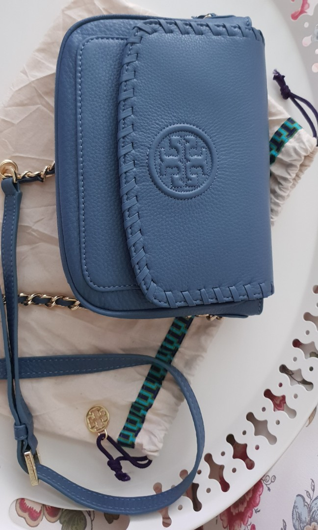 55d1e3f08ef Tory Burch Marion Mini crossbody sling Bag. Brand new with tag and  authentic., Luxury, Bags & Wallets, Sling Bags on Carousell
