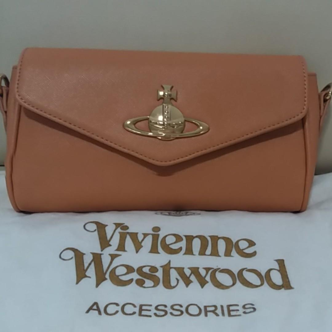 Vivienne Westwood Divina Saffiano Eco Leather Crossbody Bag Handbag
