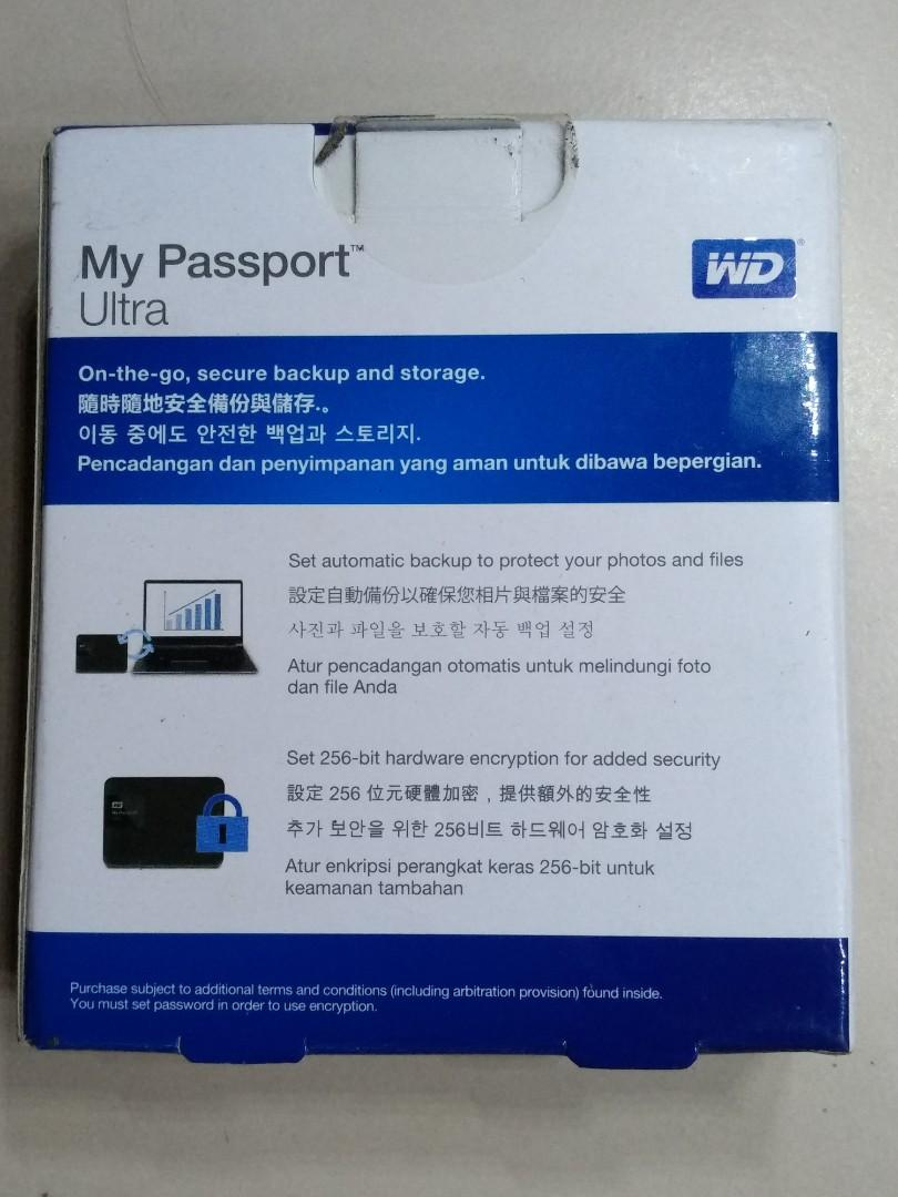 WD My Passport Ultra 2TB, Electronics, Computer Parts