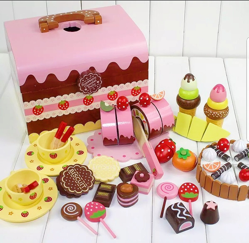 Wooden Chocolate Children Afternoon Tea Dessert Birthday Cake Ice