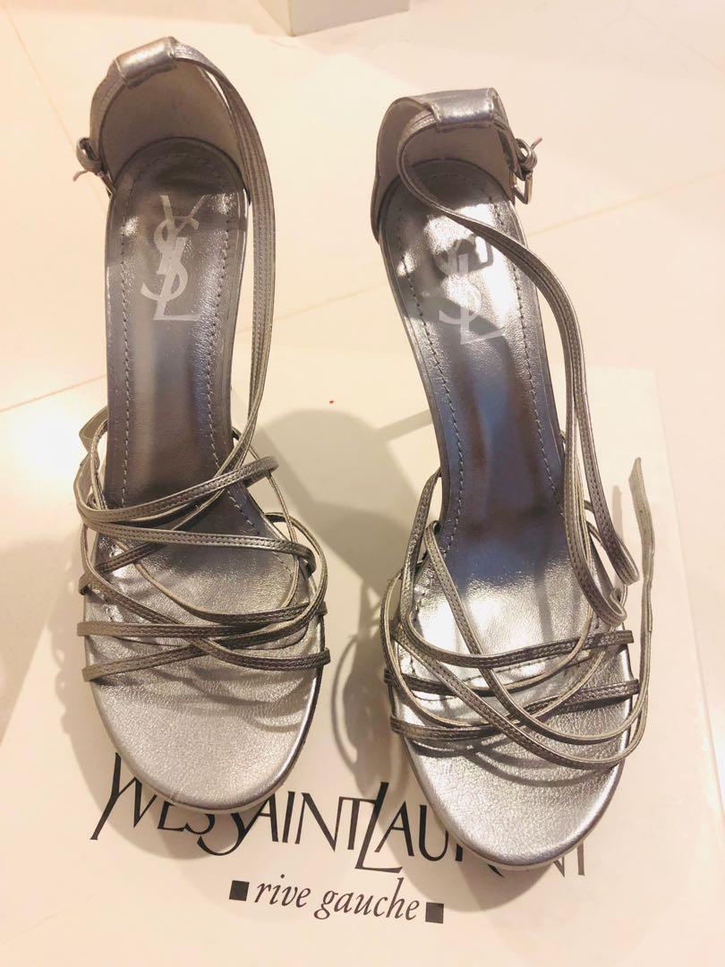 3a185ec6a80 YSL Strap Sandals High Heel